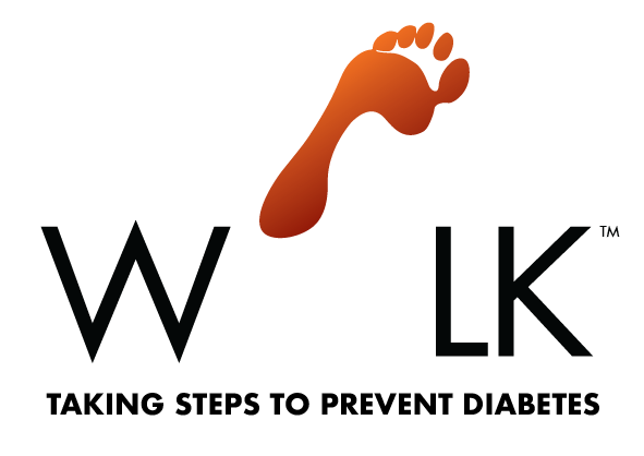 Global Diabetes Walk logo with an orange icon of a foot.