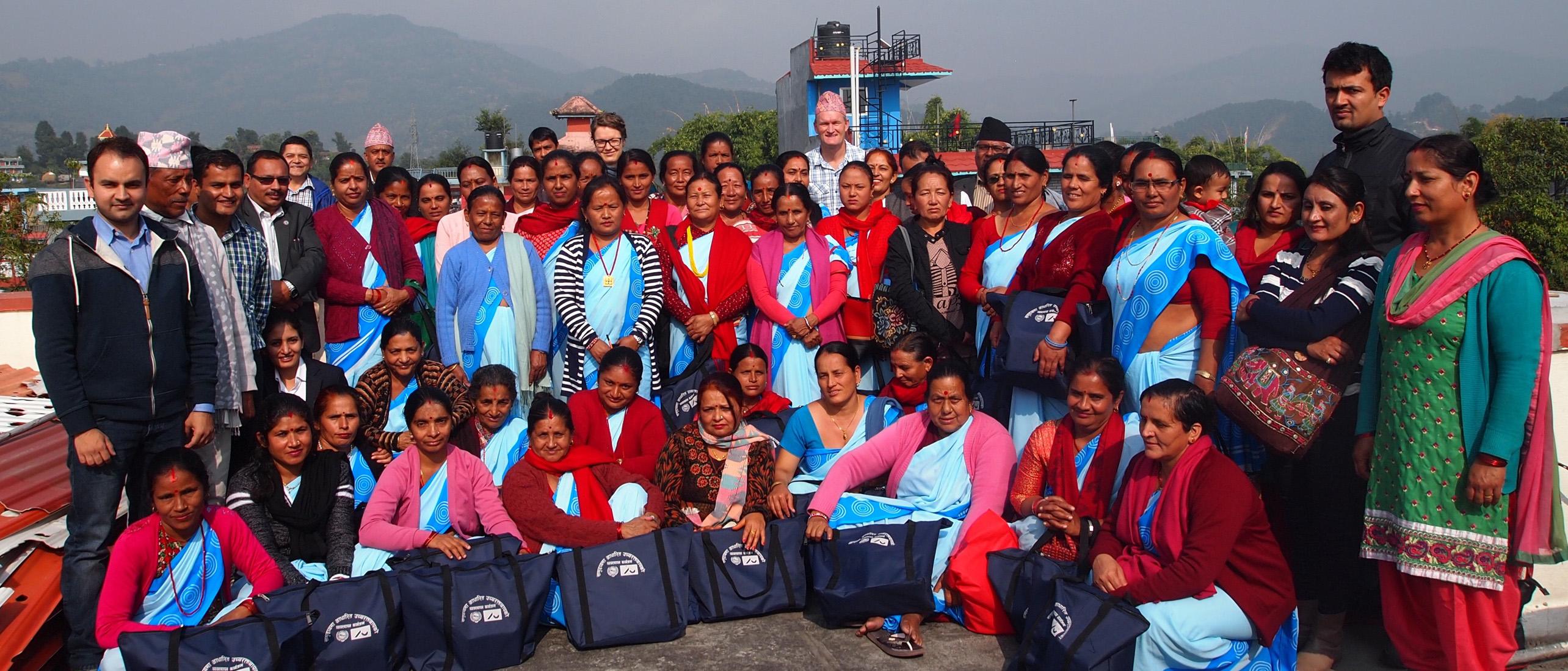 Female community health volunteers of Nepal.