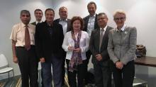 Mrs. Nilufar Ibragimova, centre, with the WDF Board of Directors.
